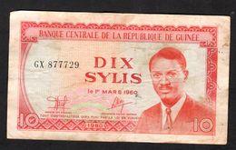 GUINEA (République De Guinée )  : 10 Sylis  -  1970 - CIRCULATED - VF - Guinea