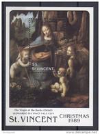 St.Vincent - 1989 Chrismas Block (1) MNH__(TH-14164) - St.Vincent (1979-...)
