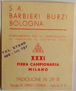 Brochure - S. A. Barbieri Burzi - Stabilimento Per Fabbricazione Di Piastrelle - Old Paper
