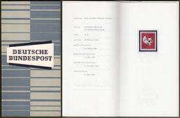 """Bund : Minister Card - Ministerkarte Typ III, Mi-Nr. 451: """" Olympische Sommerspiele Tokio """" !  R      X - [7] République Fédérale"""