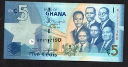 GHANA :  5  Cedis - 2015  - P38e - UNC - Ghana