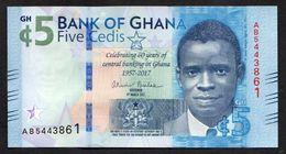 GHANA :  5  Cedis - 2017  - PNew - UNC - Ghana