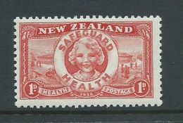 New Zealand 1936 Health Charity Issue Safeguard Health 1d MNH - Unclassified