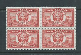 New Zealand 1936 Health Charity Issue Safeguard Health MNH Block Of 4 , 1 Stamp With Gum Crease - Unclassified
