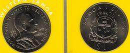SAMOA WESTERN 1 TALA EMBLEM FRONT POPE PVI VISIT BACK 1970 UNC KM? READ DESCRIPTION CAREFULLY !!! - Samoa