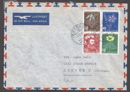 1949 Série Pro Juventute  Complète Sur Lettre Avion Pour Les USA - Pro Juventute