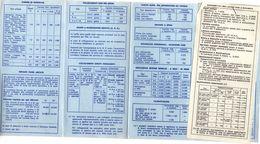 TARIFFARIO TELEFONO PUBBLICO SIP -COME DA FOTO-ANNO 1977 - Schede Telefoniche