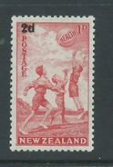 New Zealand 1939 Health Charity Issue Surcharge 2d Scarlet MLH - Unclassified