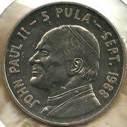 BOTSWANA 5 PULA POPE JPII VISIT FRONT & EMBLEM BACK 1988 UNC KM?  READ DESCRIPTION CAREFULLY !!! - Botswana