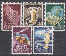 Yugoslavia Republic 1950 Chess Mi#616-620 Mint Never Hinged - 1945-1992 Socialistische Federale Republiek Joegoslavië