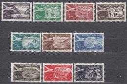 Italy Yugoslavia Trieste Zone B, Airmail 1954 Mi#113-122, Sassone#21-30 Mint Hinged - Mint/hinged