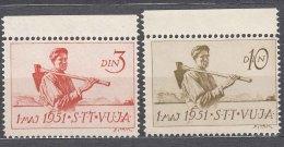 Italy Yugoslavia Trieste Zone B, 1951 Mi#50-51, Sassone#37-38 Mint Never Hinged - Mint/hinged