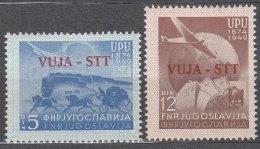 Italy Yugoslavia Trieste Zone B, UPU 1949 Mi#22-23, Sassone#17-18 Mint Hinged - Mint/hinged