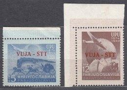Italy Yugoslavia Trieste Zone B, UPU 1949 Mi#22-23, Sassone#17-18 Mint Never Hinged - Mint/hinged
