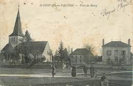 """CPA FRANCE 71 """" St Gervais En Valière, Place Du Bourg"""". - Autres Communes"""