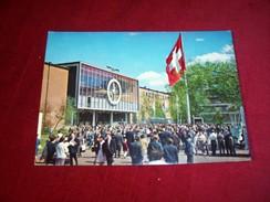 SCHWEIZER  MUSTERMESSE BASEL VORPLATZ ZU DEN HALLEN 10 /21  LE 20 04 1966 - Switzerland