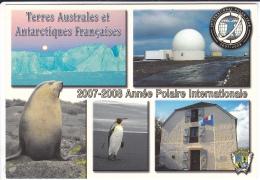 T.A.A.F        2007  2008  ANNEE POLAIRE INTERNATIONALE   (SAINT PIERRE)        (EDIT  CARLITEX) - TAAF : Terres Australes Antarctiques Françaises