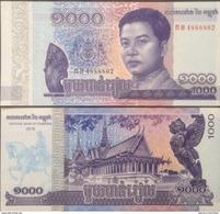 Cambodia Cambodge 1,000 1000 Riels UNC Banknote Printing In 2016 Using In 2017 - Cambodia