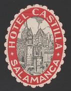 ART LUGGAGE LABEL HOTEL HOTELS SALAMANCA SPAIN ESPAÑA ESPANA - Unclassified