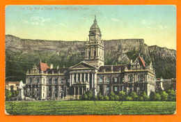 SOUTH AFRICA CAPE TOWN CITY HALL &  TABLE MOUNTAIN 1910s - Unclassified