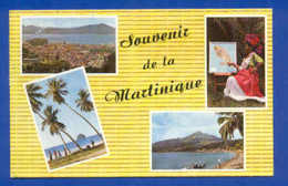 Postcard & 2 STAMPS Year 1968 MARTINIQUE CARIBBEAN ISLANDS - Postcards
