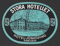 LUGGAGE LABEL HOTEL HOTELS SWEDEN SEVERIGE SCANDINAVIA - Unclassified