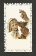 HOLY CARD Vintage Religious Canivet Lace 1st Communion Girl ITALY ITALIA Z1 - Other Collections