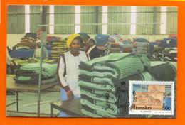 Maximum Card AFRICA TRANSKEI BLANKET FACTORY RAISING AFRIKA  AFRIQUE - Africa (Other)