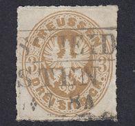 GERMANIA PREUSSEN - Yvert 20 Usato,  3 S, Bistro. - Prussia