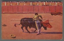 V310 CORRIDA Illustrazione M. BERTUCHI UN PASE AYUDADO FP (m) - Corrida