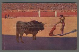 V313 CORRIDA Illustrazione M. BERTUCHI ENTRADO A MATAR FP (m) - Corrida