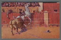 V314 CORRIDA Illustrazione M. BERTUCHI UN TORO CONDICIOSO FP (m) - Corrida