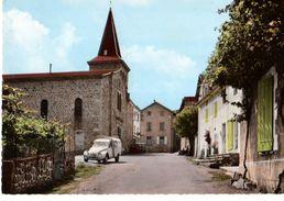 07----RARE---SAINT-PRIX---l'église Et Le Centre Du Village--( Citröen 2CV  Fourgonnette  )---voir 2 Scans - France