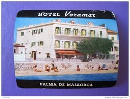 HOTEL PENSION RESIDENCIA HOSTAL VORAMAR PALMA MALLORCA SPAIN LUGGAGE LABEL ETIQUETTE AUFKLEBER DECAL STICKER Madrid - Hotel Labels