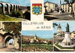 07---VILLENEUVE LE BERG--( Multivues  Blason )--voir 2 Scans - France