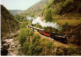 07--TRAIN -TOURNON-LAMASTRE--le Passage Des Etroits-chemin De Fer Du Vivarais--( Peu Courante )--voir 2 Scans - France