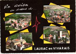 07----RARE---en Avion Au-dessus De...LAURAC EN VIVARAIS----multivues---voir 2 Scans - France