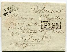 SEINE ET OISE De MOISSELLES LAC Du 30/08/1817 Avec Linéaire De Port Payé De ECOUEN 26x10 + Verso Taxe De 2 - 1801-1848: Précurseurs XIX