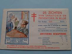 Sanatorium Et Préventorium Belges ( Tuberculose ) Reeks 1 ( Sluitzegels : Voir Foto Pour Détails ) Encore 15 !! - Belgique