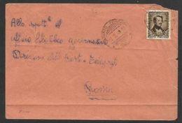1948 Italia Italy Repubblica STORIA POSTALE (Roma) Busta Affrancata Donizetti Viaggiata - 6. 1946-.. República