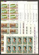 1970 Jersey  DEFINITIVA DECIMALE  Definitives Decimal 10 Serie Di 15v. MNH** (28/42) In Blocco Block - Jersey