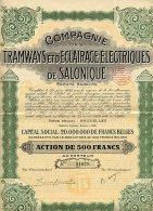 COMPAGNIE DES TRAMWAYS ET D'ECLAIRAGE ELECTRIQUES DE SALONIQUE - Railway & Tramway