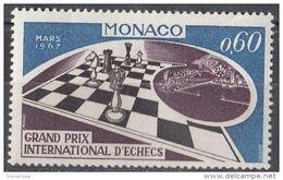 664 Monaco 1967 Grand Prix  International D ' Echecs Chess Scacchi Nuovo MNH - Scacchi