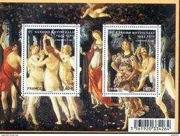France 4518 4519 F  Tableaux De Boticelli  Neuf TB ** MNH Sin Charnela Prix De La Poste  2.27 - Francia