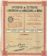 SOCIEDAD DE ESTUDIOS Y OBTENCION DE CONCESIONES DE MINAS 1927 - Bergbau