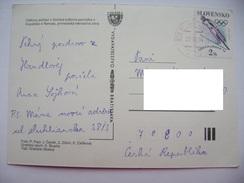 Slovakia - Stamp LILLEHAMMER '94, 2 Sk. - Ski Jumping - On Postcard Handlova, 1994 Used - Winter 1994: Lillehammer