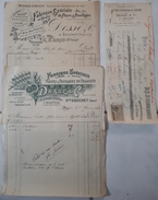 PARIS - ART NOUVEAU - FLEURS & FEUILLAGES EN CELLULOÏD - DESSE & CIE - 1902 - 2 Factures Et Une Lettre De Change. - 1800 – 1899