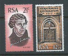 South Africa 1967 Luther Reformation Set Of 2 MNH - Afrique Du Sud (1961-...)