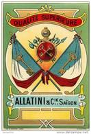 ETIQUETTE   Compagnie ALLATINI  SAIGON Viet Nam  Drapeaux  Format 140 X95 - Labels