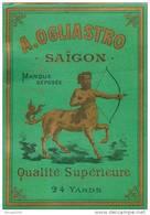 ETIQUETTE   Compagnie OGLIASTRO  SAIGON Viet Nam  Centaure   Format 125 X 90 - Labels